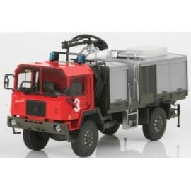Saurer, 6DM 4 x 4 Swiss Army, Feuerwehr, 1/87