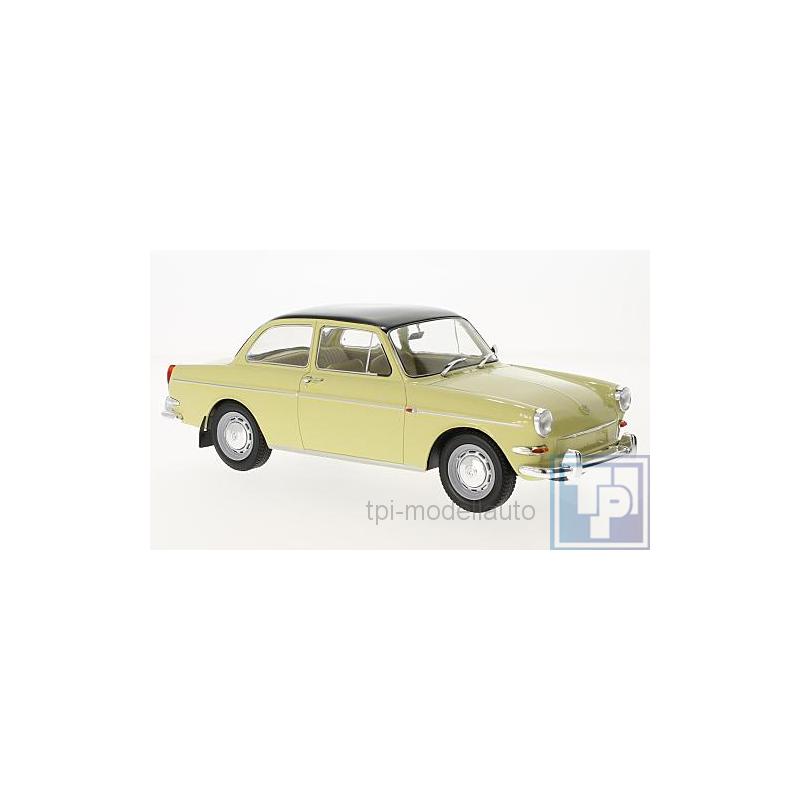 VW 1500 S 1:18 MCG  />/> NEW /</< Typ 3 beige //schwarz 1963