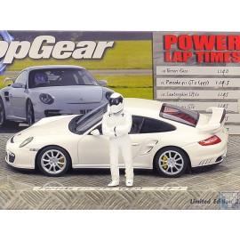 """Porsche, 911 GT2 (997), 2007, weiss, """"Top Gear"""",""""1/43"""", 1/43"""